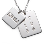 Sterling Silver Name Tag Necklace