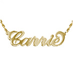 Carrie Style Personalized 14k Gold Name Necklace