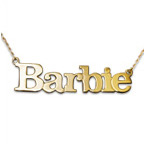 Solid 14k Gold Block Letters Name Pendant
